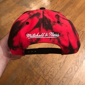 new product 0ba7e d4ebf Mitchell   Ness Accessories - Miami Heat Mitchell Ness Red Tie Dye Snapback  Hat